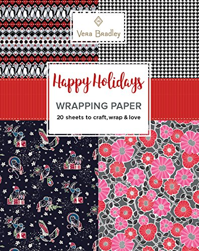 Vera Bradley Happy Holidays Wrapping Paper