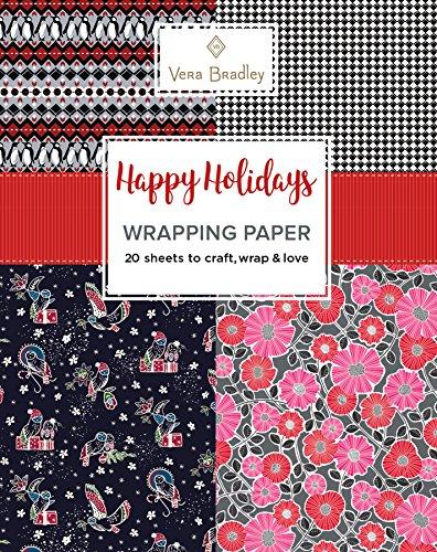 Vera Bradley Happy Holidays Wrapping Paper