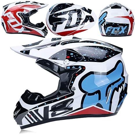 WZFC Casco Motocross Eduro Homologado Casco De Moto Cross Integral para Mujer Hombre Adultos (Modelo-FOX-11): Amazon.es: Deportes y aire libre