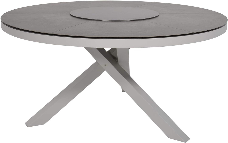 Tisch Esstisch Gartentisch rund Keramik Tischplatte Mojito