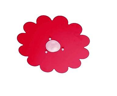 Plafoniera Cameretta Bambino : Plafoniera per camerette stanzette bambini modello margherita rosso
