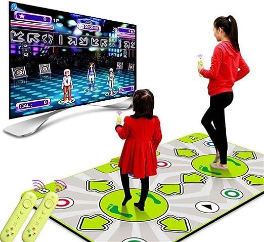 Atten Dance Mat inalámbrico, HD somatosensoriales inalámbrica máquina de Bailar, Antideslizante de TV del Ordenador de Doble Uso for Adultos Infantes 155mm * 42mm: Amazon.es: Hogar