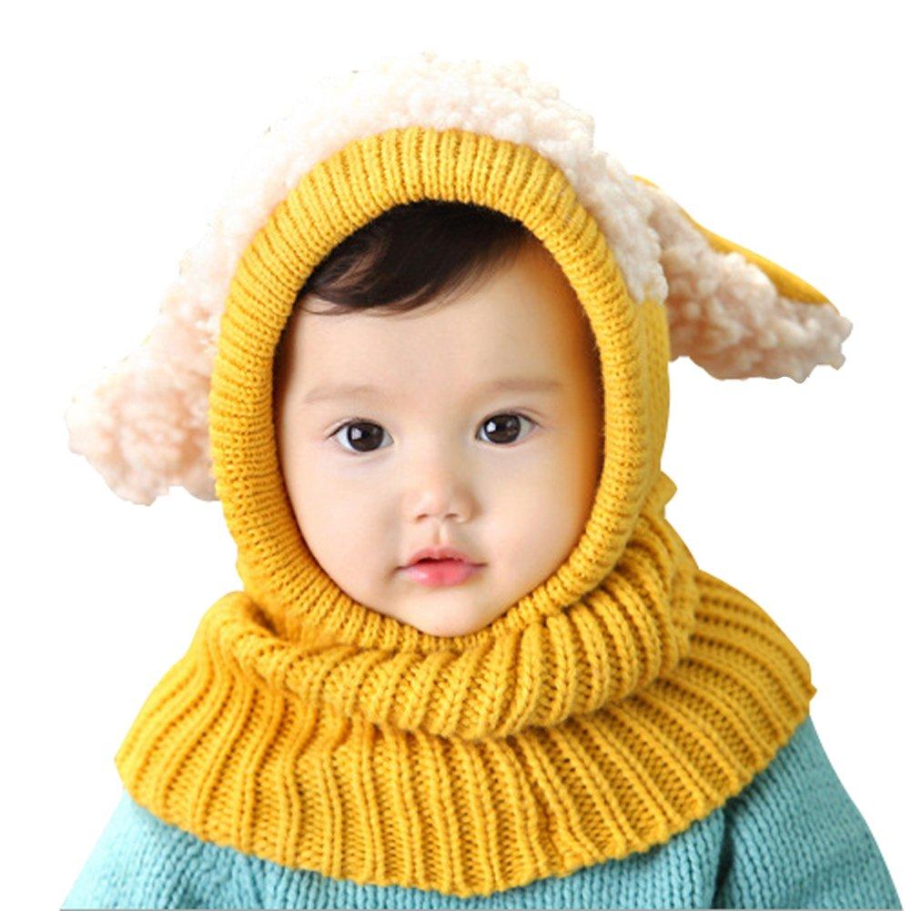 Flyingsky Baby Girls Boys Winter Hat Scarf Earflap Hood Scarves Skull Caps