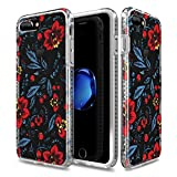 iPhone 7 Plus Case for Girls Patchworks Level Botanic Garden Case Wild Flower - Military Grade Protective Case, Extra Protection, Impact Disperse System