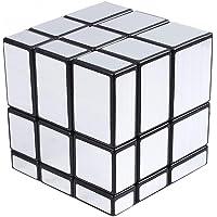 Popsugar Qiyi Mirror 3x3x3 Silver Sticker Magic Cube
