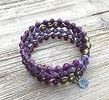 East African Infinity Wrap Bracelet - Purple