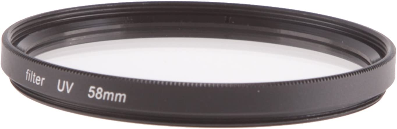 1x 58mm UV Lens Filter - UV Coated Fovitec Threaded Universal Fit