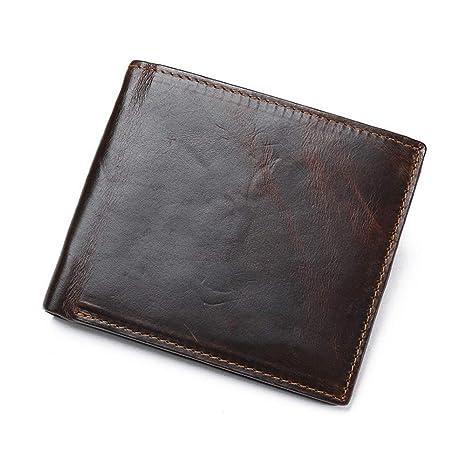 ZHENGJIU Billetera De Cuero para Hombres Cartera De Documentos para Negocios, Conjunto De Tarjeta De