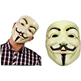 La Vogue Masque Anonymous V pour Vendetta Masque Guy Fawkes Cosplay 18*21CM Disponible en 2 Couleurs (Jaune)