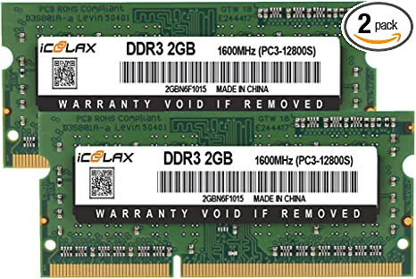 2 x 8GB SP Silicon Power 16GB PC3 12800 DDR3L-RAM-1600MHz 204 Pin CL11 1.35V Non ECC Unbuffered SODIMM Laptop Memory Module Low Voltage and Power Saving Design