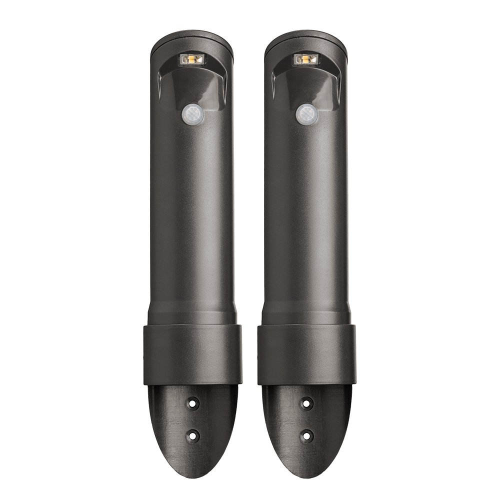 Mr. Beams MB562 Wireless Motion Sensor Activated Compact Led Path Light, 2-Pack, Black Brown