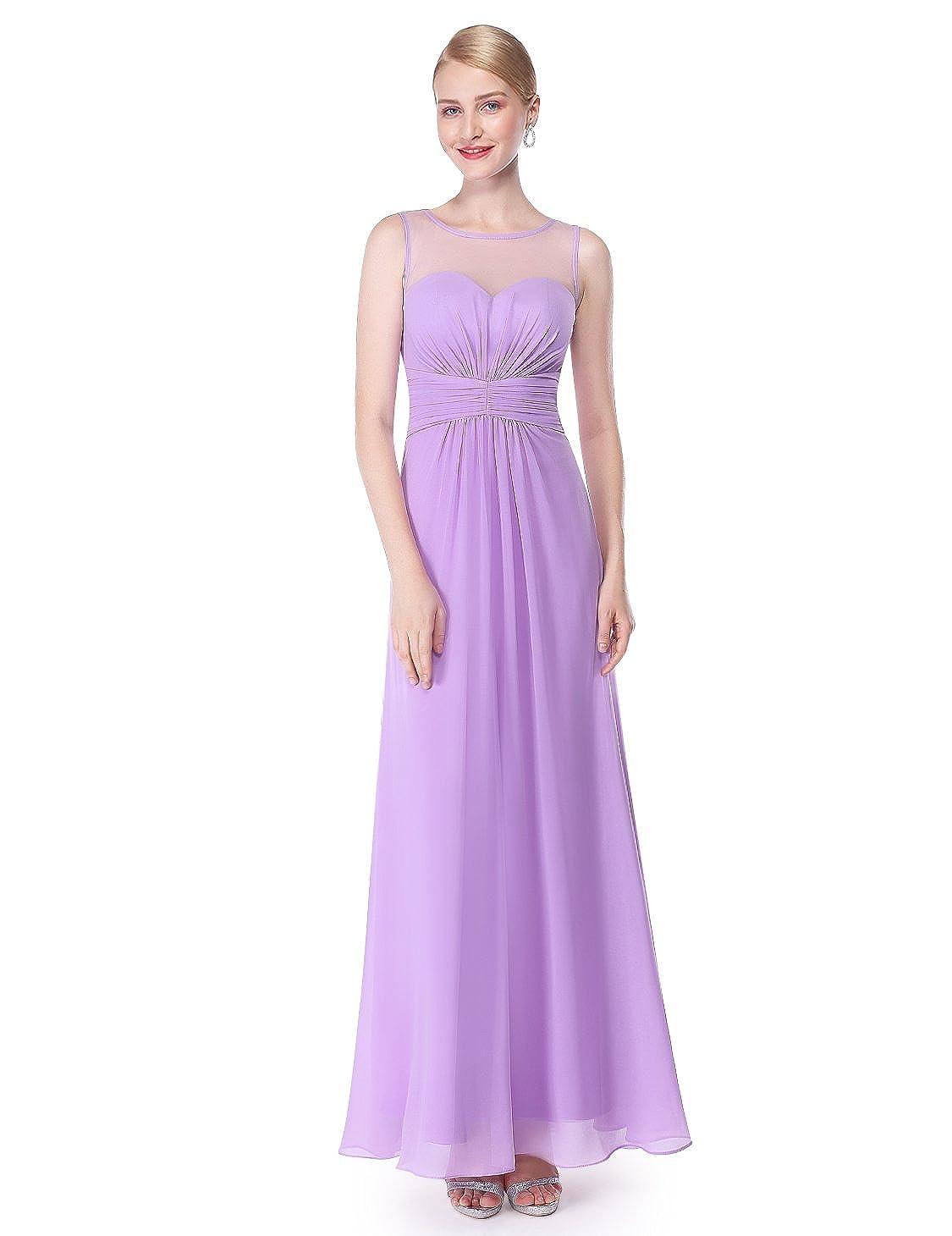 Ever-Pretty Elegante Abito da Sera da Donna in Chiffon Lungo Impero 08761