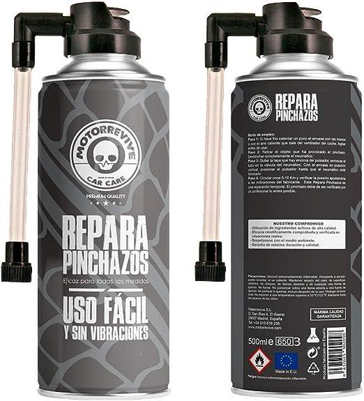 Motorrevive - Repara Pinchazos para Coche y Moto, Sella e hincha ...