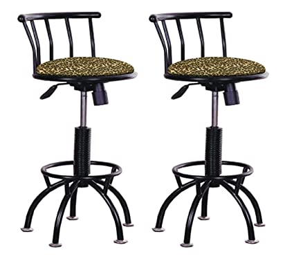 Outstanding Amazon Com Set Of 2 Adjustable Height Stools 24 29 Machost Co Dining Chair Design Ideas Machostcouk