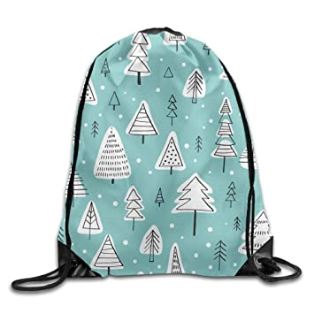 Amazon.com  Drawstring Bag Gym Bag Travel Backpack Trees Mint Green ... ead6201052