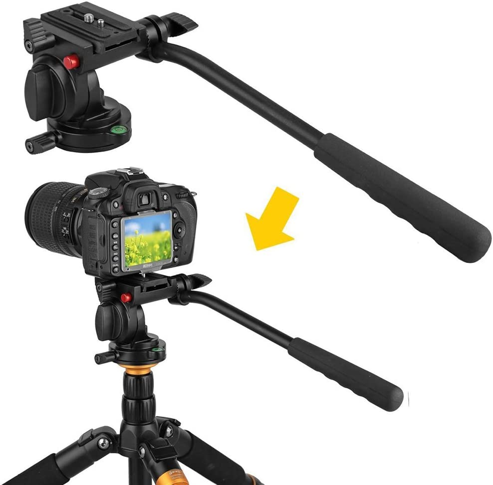 Amyove Flexible Aluminum Camera Tripod Head Video Tripod Head for Canon Nikon and Other DSLR Cameras
