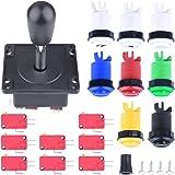 Arcade Parts Bundles Kit,Quimat Arcade Accessories Kit with 1 Joystick,8 Push Buttons(1P/2P buttons & 6pcs Buttons) for Arcade Video Game Multicade MAME Jamma Game (Blue)