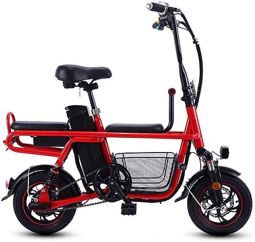 CYGGL Bicicleta eléctrica Plegable, batería de ión Litio extraíble ...