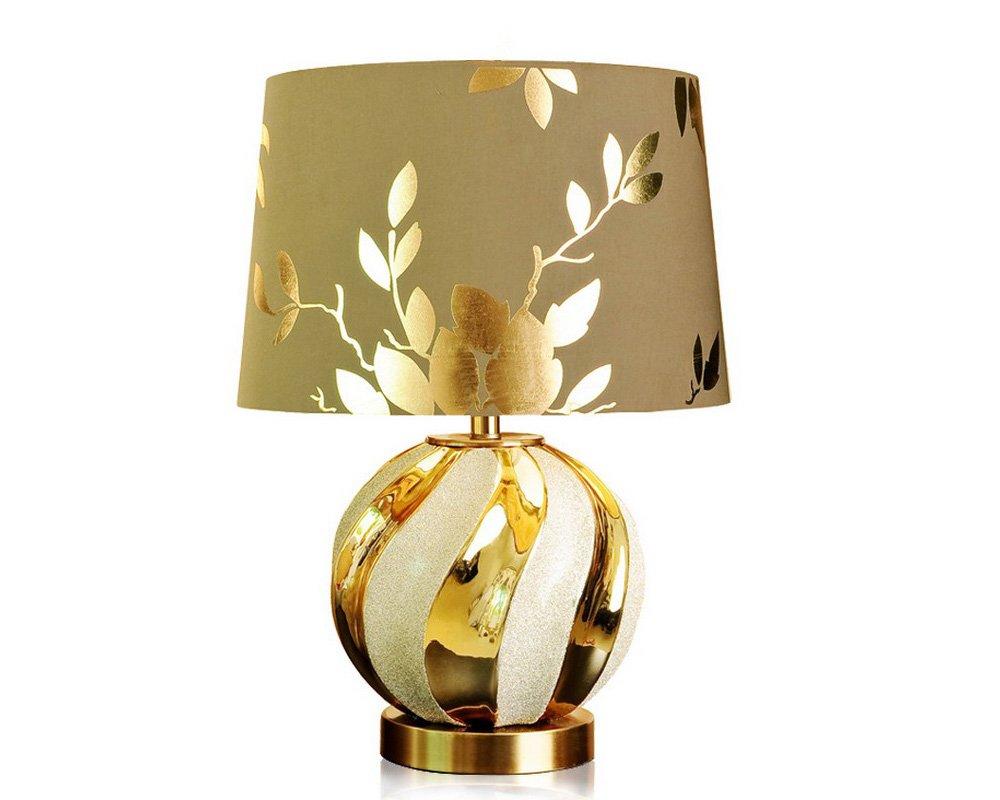 caldo ALUK-Nice table lamp Lampada da da da tavolo da notte da cucina in stile lucido in oro lucido europeo (dimensioni   B)  più economico
