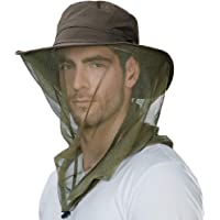 FancetAccessory Anti Mosquito Insect Bug Net Fishing Hat UV50 Protection Water Repellent Nylon