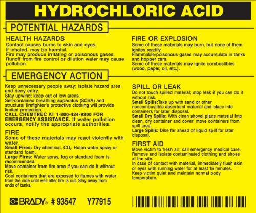 Brady 93547,  Hazardous Material Label:Dot 5800.4-1987, 3 3/4