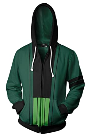 f7f53c8738 UU-Style One Piece Roronoa Zoro Cosplay Costume Jolly Rogers Hoodies  Sweater Unisex (Small