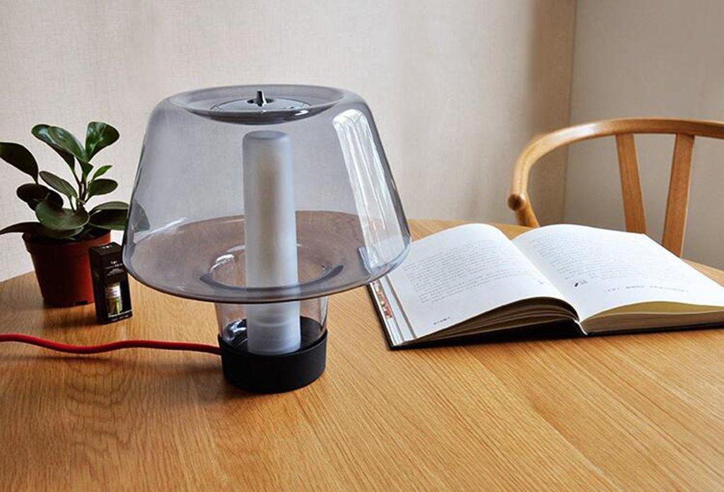 HRMAOI®,Personalisierte, modern und einfach, kreative Art und Weise, Wohnzimmer, Schlafzimmer, Nachttischlampe, warme Schreibtisch, Stecker Radio Lichter, Aromalampen, 22,9 × 22,9 × 23.1cm