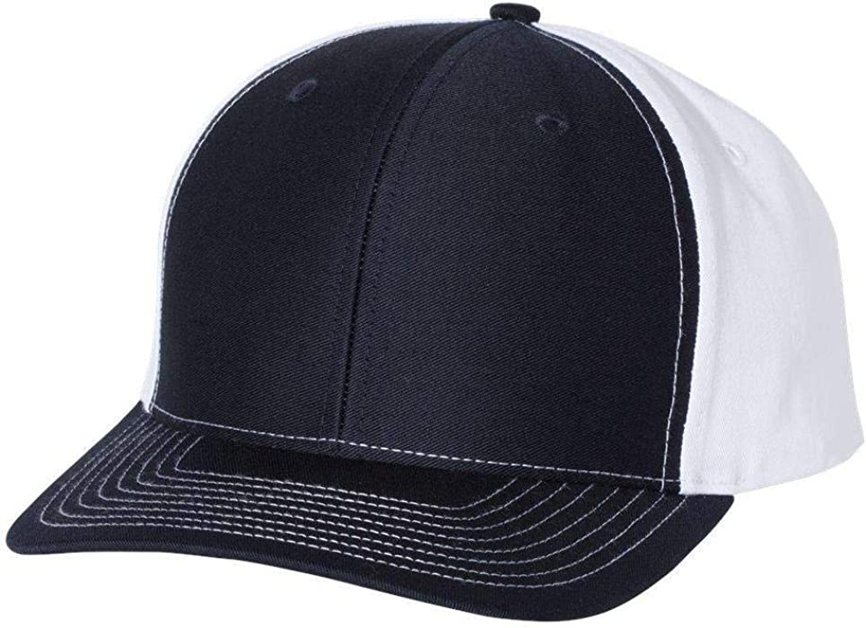 e0122d557e602 Amazon.com  Richardson - Twill Back Trucker Cap - 312 - Adjustable -  Navy White  Clothing
