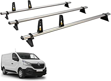 2014 on Std Roof Van Guard ULTI Bar 2 Aluminium Roof Bars and 4 Load Stops for Vauxhall Vivaro