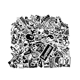 PC Hardware : Laptop Stickers [100 pcs], Breezypals Car Motorcycle Bicycle Luggage Decal Graffiti Skateboard Stickers for Laptop Bumper, Rock and Roll Music Stickers- Sticker Pack