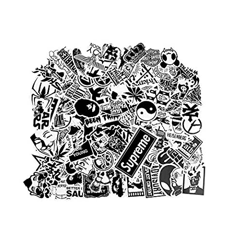 Stickers [100 pcs], Bezgar [Clear] Vinyl Laptop Stickers for Car Motorcycle Bicycle Luggage Graffiti Patches Skateboard Wall (A Sticker)