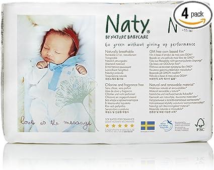 Eco by Naty Babycare Gr/ö/ße 3 4/–9 kg 31 St/ück Eco Windeln