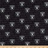 Traditions NFL Cotton Broadcloth Oakland Raiders