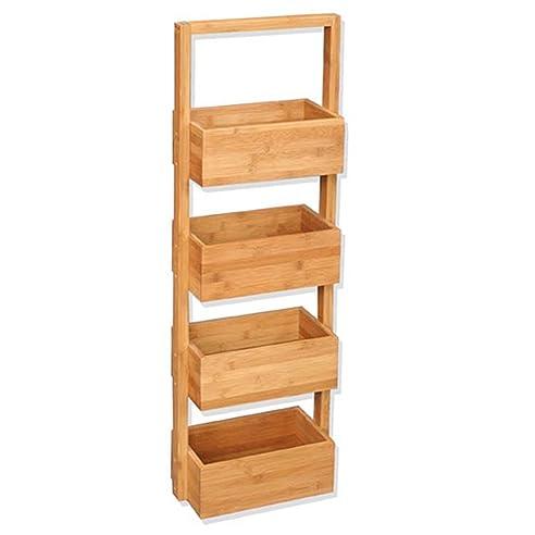 Regal Natürliche Aufbewahrungsbox Für Badezimmer Décor Bambus – 4