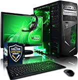 "Vibox Standard Package 3 Gaming PC - with Warthunder Game Bundle, 21.5"" HD Monitor, Gamer Headset, Keyboard & Mouse Set (3.1GHz AMD A8 Quad Core Processor, Radeon R7 Graphics Chip, 1TB Hard Drive, 8GB RAM, AvP Mamba Green LED Case, No Operating System)"