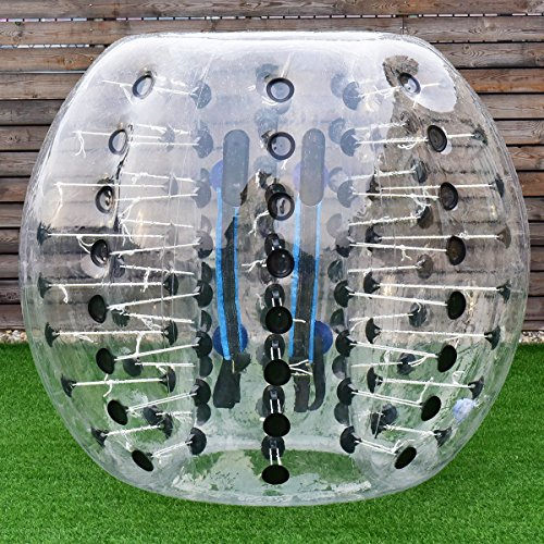 61h51c1W2ML - Costzon Bubble Soccer Ball, Dia 5' (1.5m) Human Hamster Ball, Inflatable Bumper Ball For Kids And Adults (Black Dot)