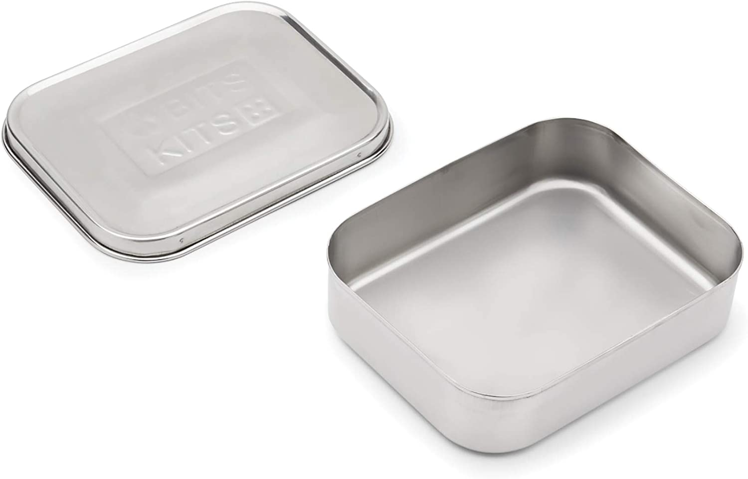 Bits Kits Stainless Steel Bento Box Lunch and Snack Container for Kids and Adults, 1 Compartment, 3 Cup Capacity