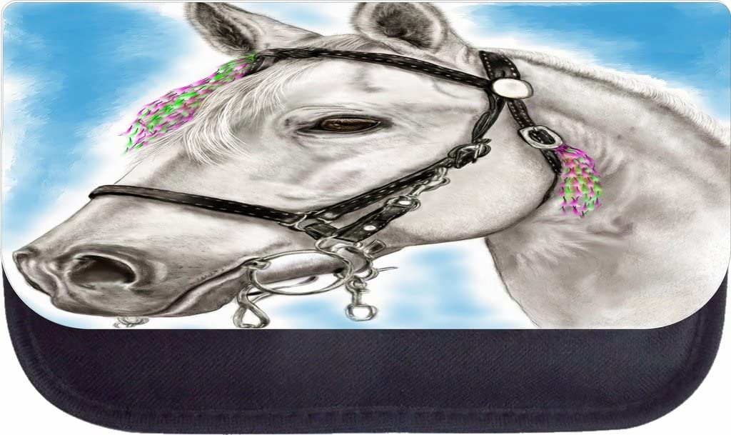 TM School Backpack and Pencil Case Set Watercolor White Horse Rosie Parker Inc
