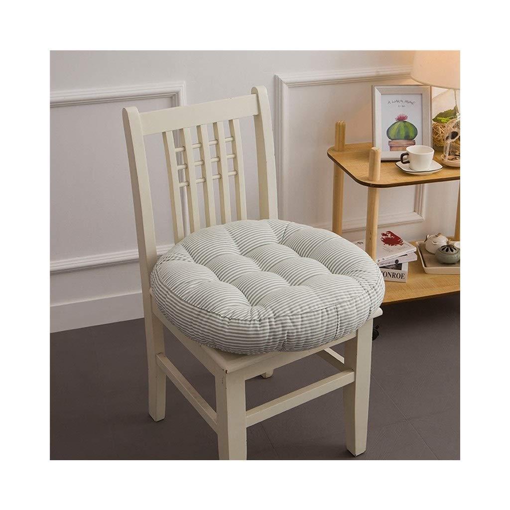 Cushion, Padded Cushion Chair Cushion Office Cushion Student Cushion Classroom Stool Butt Pad Four Seasons Breathable Round (color : Green, Size : 40cmx40cmx10cm)