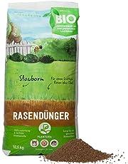 Plantura Bio Rasendünger, Ideal im Frühjahr und Sommer, Rasen Dünger gegen Moos, staubarmes Granulat, unbedenklich für Haustiere, Langzeit-Wirkung