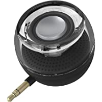 Mini Portable Speaker, 3W Mobile Phone Speaker with 250mAh Lithium Battery Line-in Speaker with Clear Bass 3.5mm AUX Audio Interface, Plug and Play for iPhone, iPad, iPod, Tablet, Computer