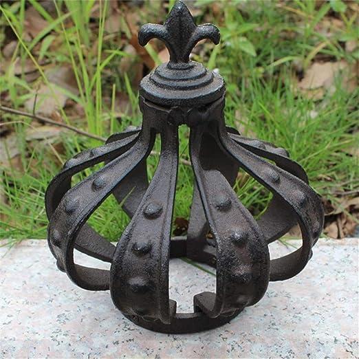 La decoración del jardín Pequeño arte Hierro fundido Decoración de jardín retro Adorno de metal Estatuilla
