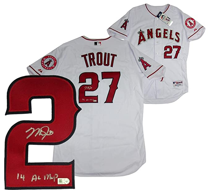 c383fef72 Mike Trout Signed Los Angeles Angels Majestic Authentic MLB Jersey with