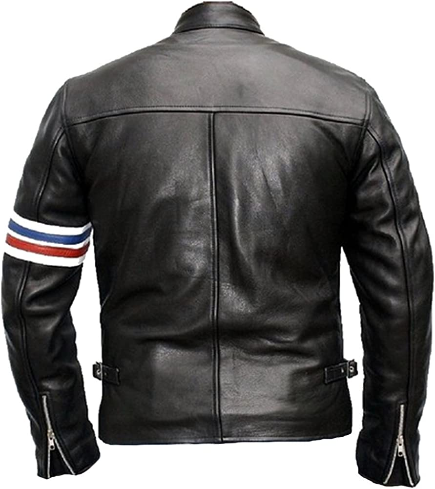 coolhides Mens Captain Easy Rider Leather Jacket
