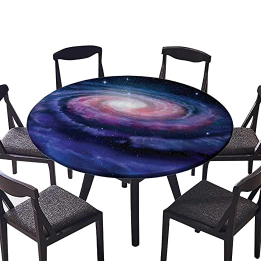 ffa06d8c5a63 Amazon.com: Round Premium Table Cloth Nebula in Outer Space Spiral ...