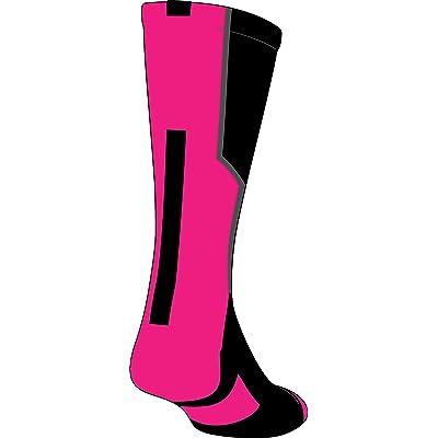 TCK Player Id Black/Neon Pink Custom Number Crew Sock