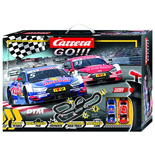 Carrera GO!!! 62480 DTM Master Class Electric Slot Car Racing Track Set 1:43 Scale from Carrera