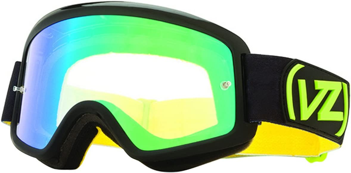 Vonzipper Beefy MX Adult Off-Road Motorcycle Goggles Eyewear Lime w//Smoke Green Chrome Lens One Size