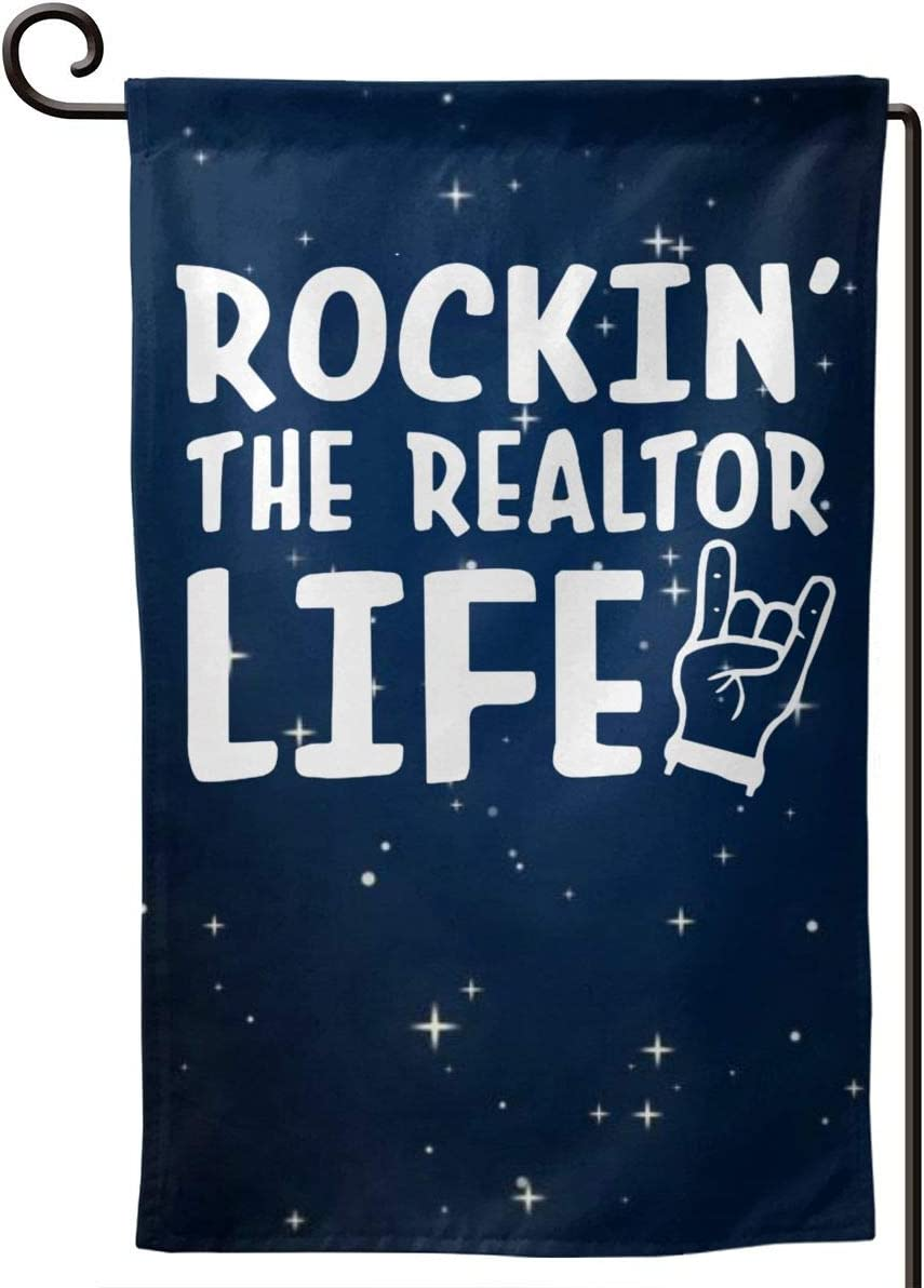 CHANGQUDD Rockin' The Realtor Life Home Decoration Garden Flag 1218 in (Double Side)
