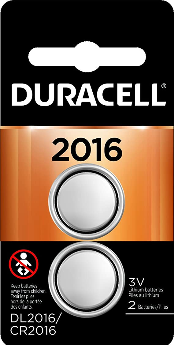 Duracell - 2016 3V Lithium Coin Battery - Long Lasting Battery - 2 Count